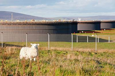 Flotta Oil Terminal Poster by Ashley Cooper