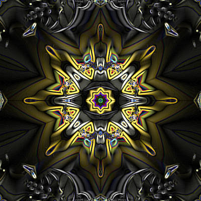 Fractal Kaleidoscope Poster by Gina Lee Manley