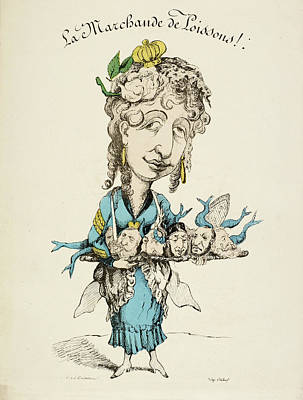 French Caricature Poster by British Library
