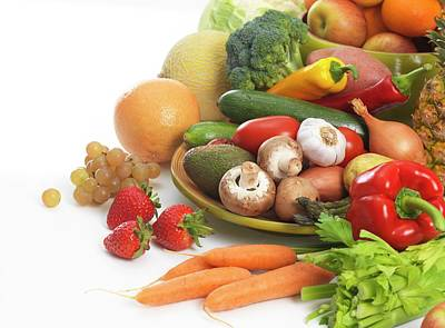 Fruit And Vegetables Poster by Tek Image