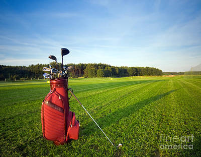 Golf Gear Poster by Michal Bednarek