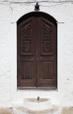 Greek Door Poster by Neil Overy
