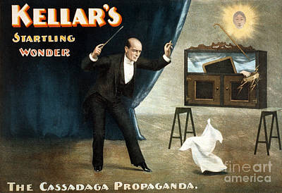 Harry Keller, American Magician Poster by Photo Researchers