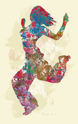 Hip Hop Street Dancing  Pop Stylised Art Poster Poster by Kim Wang