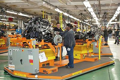 Jeep Grand Cherokee Assembly Line Poster