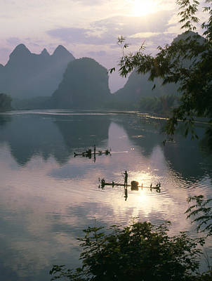 Li River At Dawn Poster