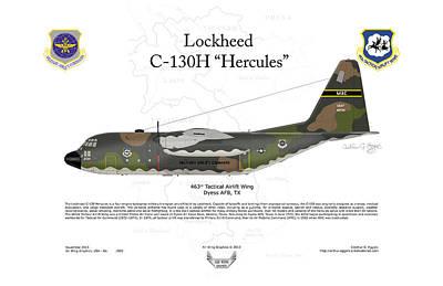 Lockheed C-130h Hercules Poster by Arthur Eggers