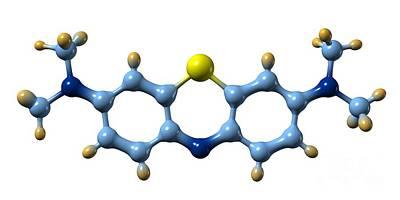 Methylene Blue, Molecular Model Poster