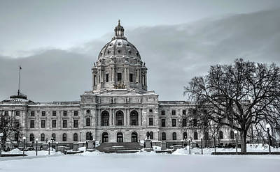 Minnesota State Capitol St Paul Poster by Amanda Stadther