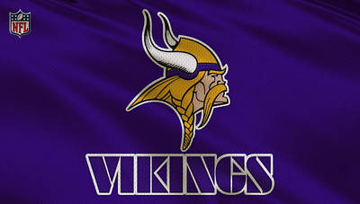 Minnesota Vikings Uniform Poster by Joe Hamilton