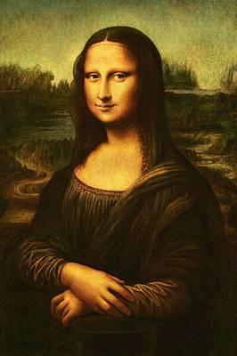 Poster featuring the painting Mona Lisa  by Leonardo Da Vinci