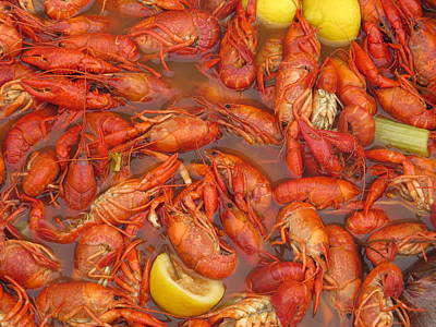 New Orleans French Quarter Cajun Food Seafood By Art504 Poster by Sean Gautreaux
