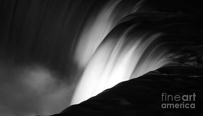 Niagara Falls New York In Black And White Poster by ELITE IMAGE photography By Chad McDermott