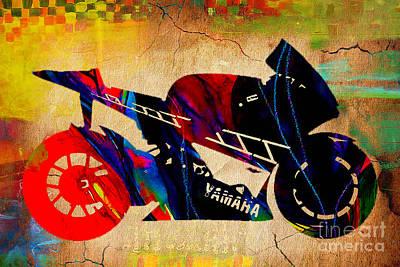 Ninja Bike Poster by Marvin Blaine