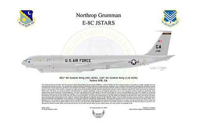 Northrop Grumman E-8c Jstars Poster by Arthur Eggers