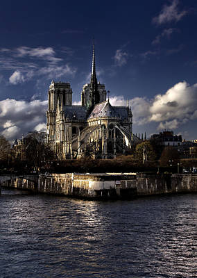 Notre Dame Paris Poster by Radoslav Nedelchev