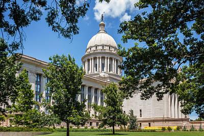 Oklahoma State Capital Poster by Doug Long