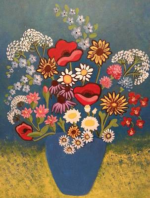Poppies And Daisies Poster by Nikki Dalton