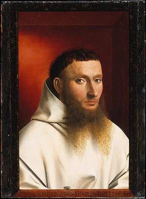 Portrait Of A Carthusian Poster by Petrus Christus
