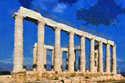 Poseidon Temple Poster by George Atsametakis