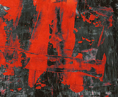 Red Abstract Poster by Modern Art Prints