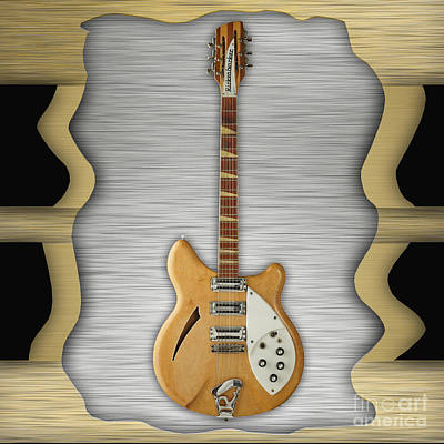 Rickenbacker Guitar Collection Poster by Marvin Blaine