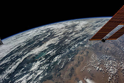 Satellite View Of Planet Earth Showing Poster