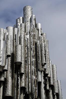 Sibelius Pipe Monument - Helsinki Finland Poster by Jon Berghoff
