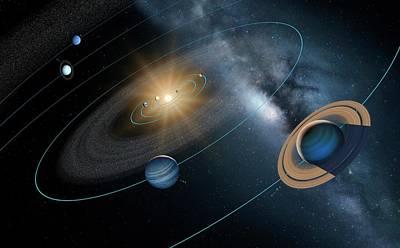Solar System Poster by Detlev Van Ravenswaay