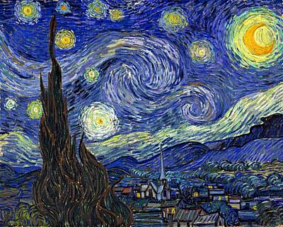 Poster featuring the painting Starry Night  by Vincent Van Gogh