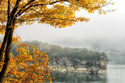 Summersville Lake Autumn Poster by Thomas R Fletcher