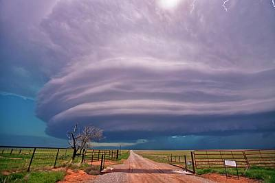 Supercell Thunderstorm Poster