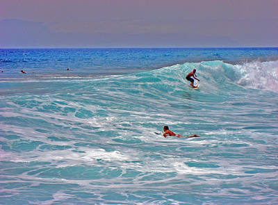 Surfing. Canary Islands. Poster