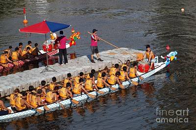 The 2013 Dragon Boat Festival In Kaohsiung Taiwan Poster by Yali Shi