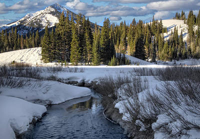 Wasatch Mountains In Winter Poster by Utah Images