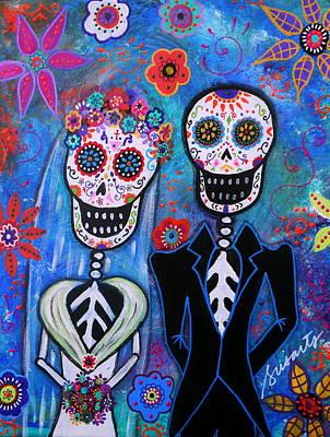 Wedding Dia De Los Muertos Poster by Pristine Cartera Turkus