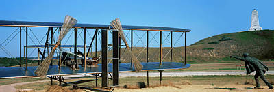 Wright Flyer Sculpture At Wright Poster by Panoramic Images