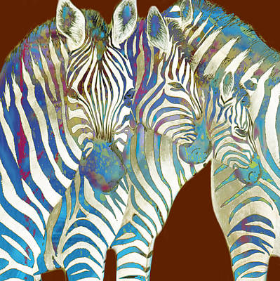 Zebra - Stylised Drawing Art Poster Poster by Kim Wang