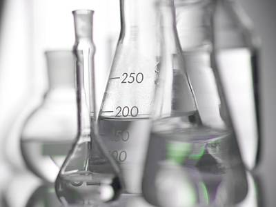 Laboratory Glassware Poster by Tek Image