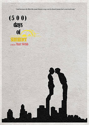 500 Days Of Summer Poster by Ayse Deniz