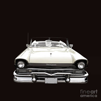 50s Ford Fairlane Convertible Poster by Edward Fielding