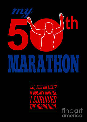 50th Marathon Race Poster  Poster