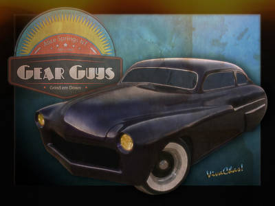 51 Mercury Gear Guys Car Club Alice Springs Nt Poster