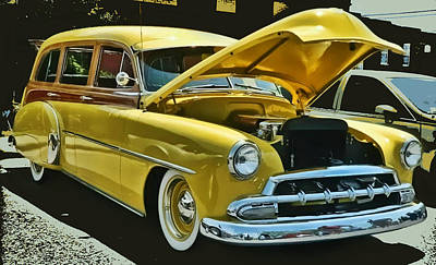 '52 Chevy Wagon Poster by Victor Montgomery