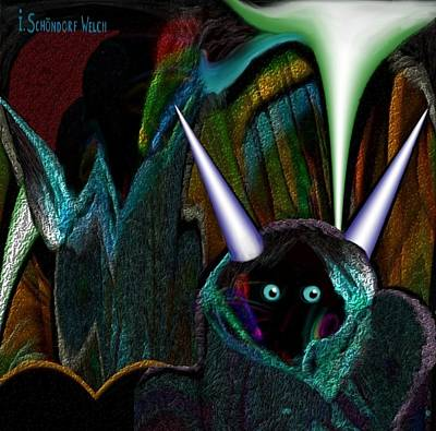 527 - Little Alien Being Poster by Irmgard Schoendorf Welch