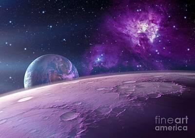 Alien Landscape, Artwork Poster