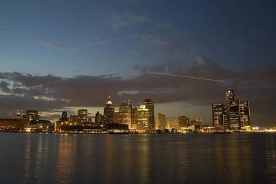 Detroit Skyline Poster by Gary Marx