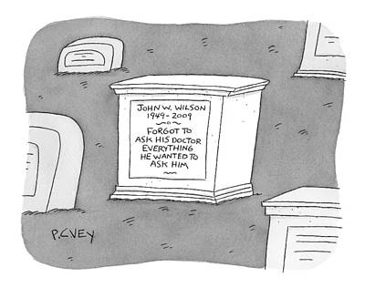 (a Tombstone For John W. Wilson Reads forgot Poster by Peter C. Vey
