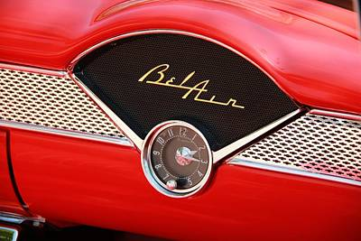 Vintage Cars Poster featuring the photograph '56 Bel Air by Aaron Berg