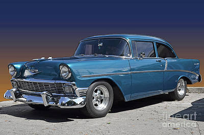 Poster featuring the photograph 56 Chevy by Robert Meanor